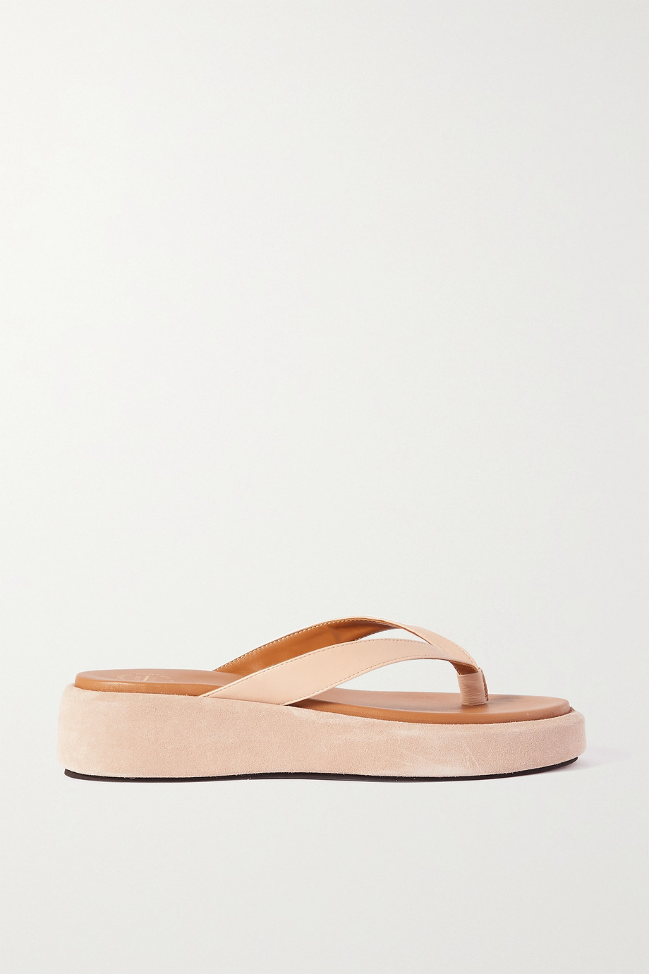 ATP Atelier Roseo leather and suede platform sandals
