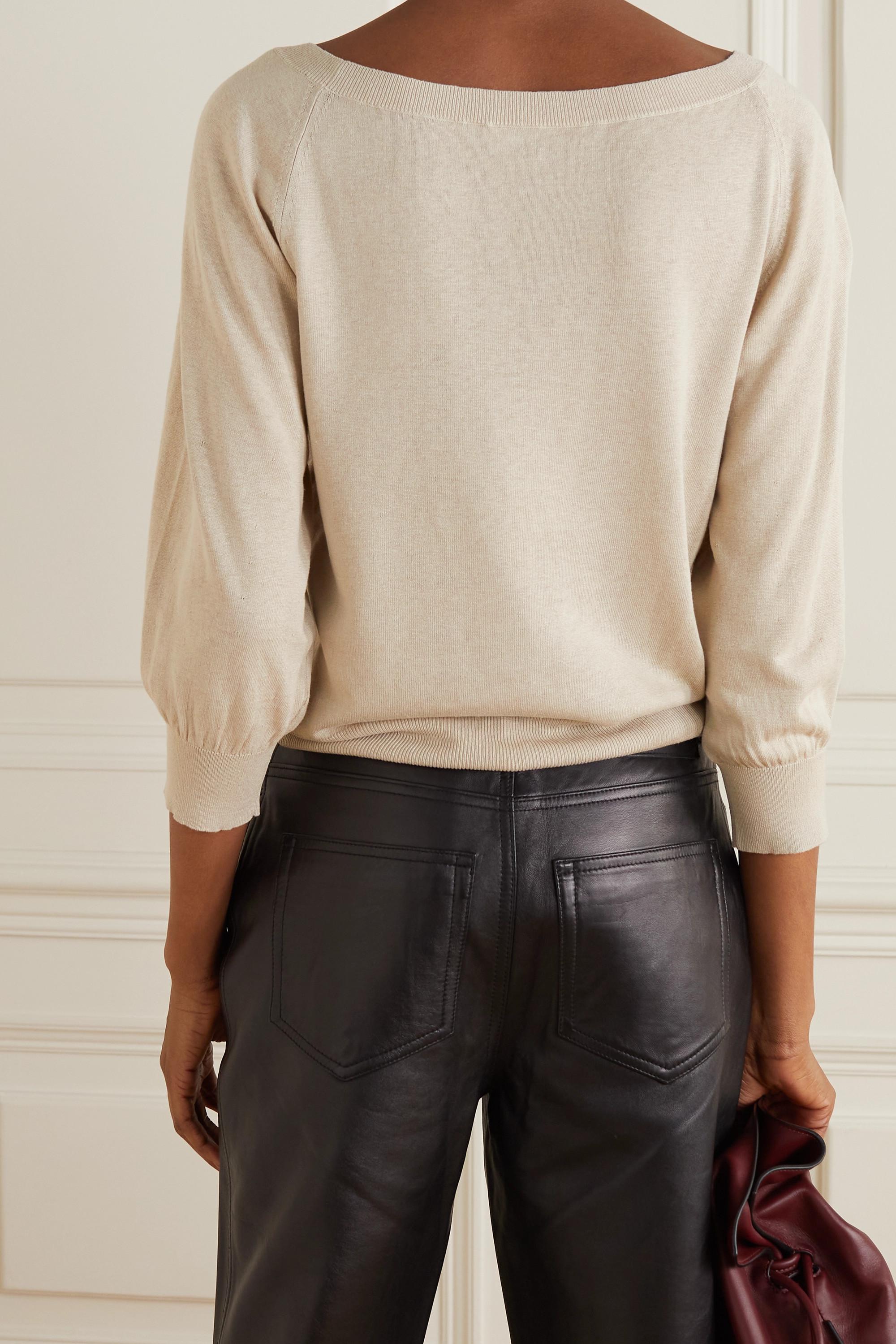 Max Mara Harold silk and linen-blend sweater