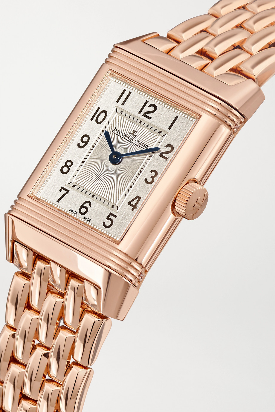 Jaeger-LeCoultre Reverso Classic Duetto small hand-wound 21mm rose gold and diamond watch