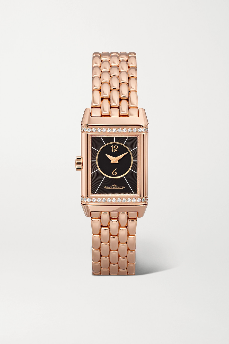 Jaeger-LeCoultre Reverso Classic Duetto small 21mm rose gold and diamond watch