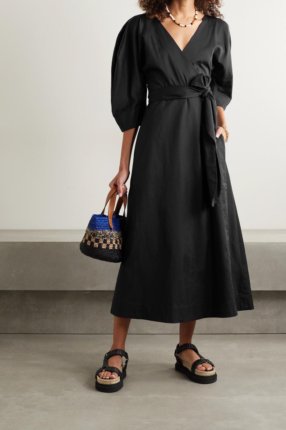 Mara Hoffman + NET SUSTAIN Agnella organic cotton wrap midi dress