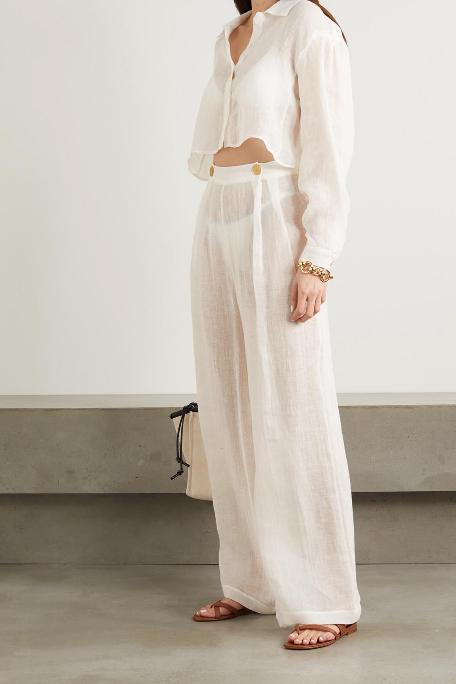 Le Kasha + NET SUSTAIN x LG Electronics organic linen-gauze shirt