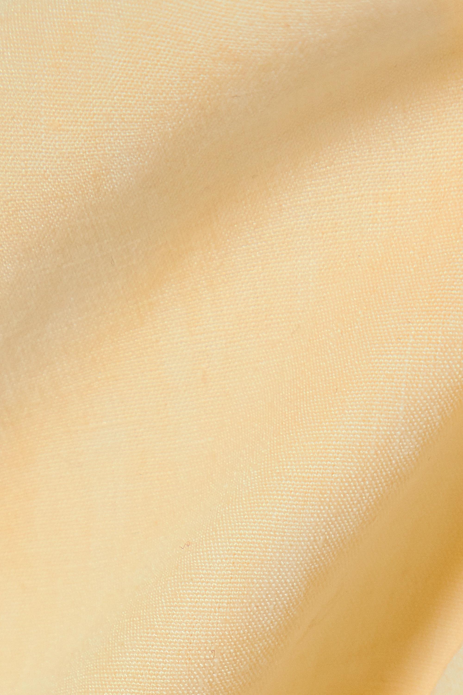 Le Kasha + NET SUSTAIN x LG Electronics cropped open-back organic linen halterneck top