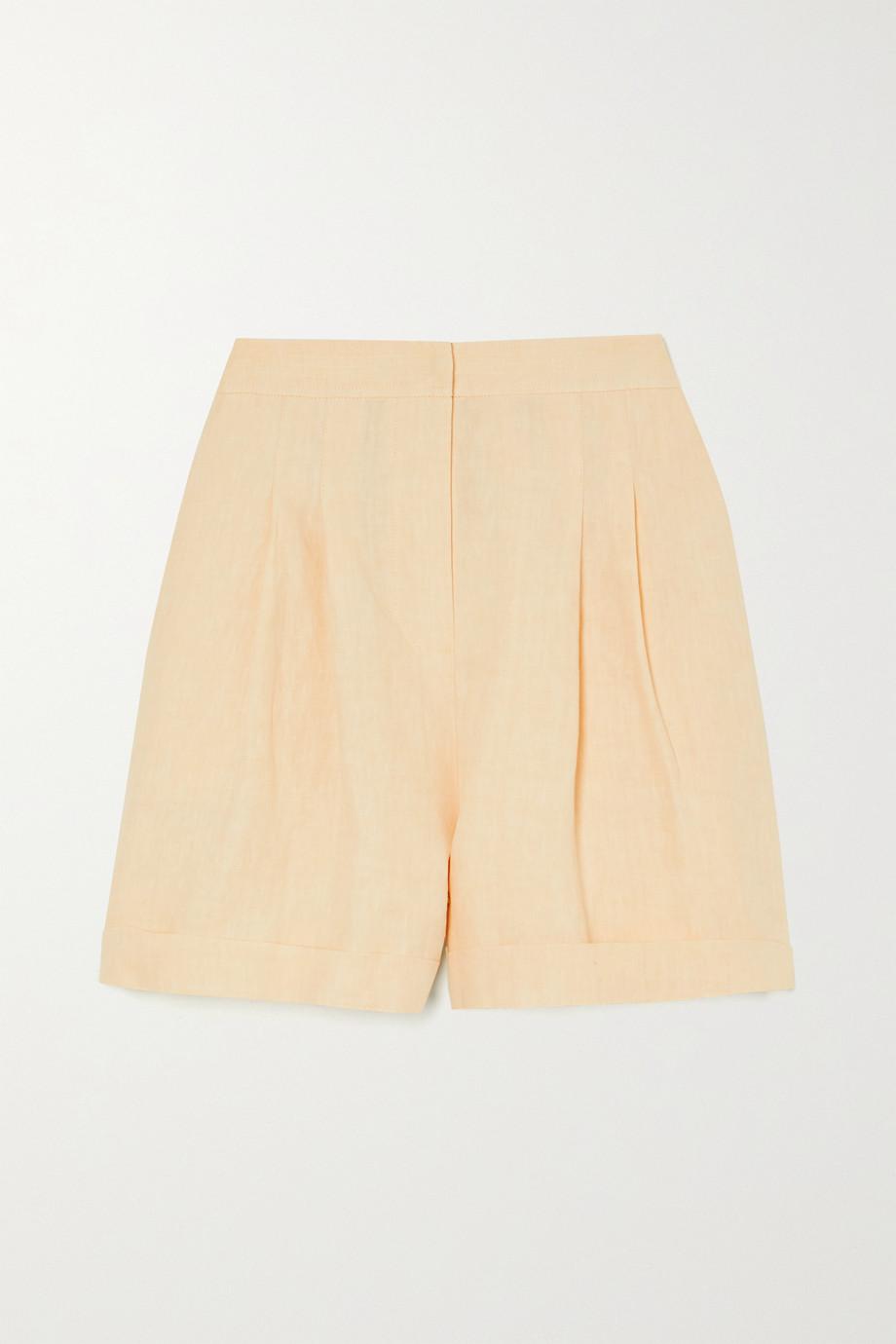 Le Kasha 【NET SUSTAIN】Le Kasha x LG Electronics 褶裥亚麻短裤