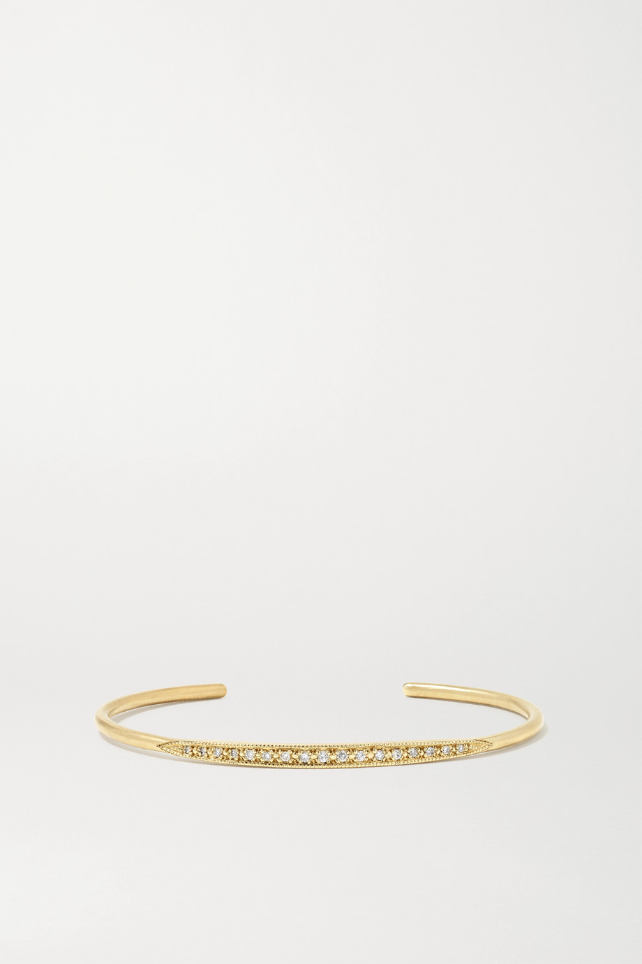 Brooke Gregson 14-karat gold diamond cuff