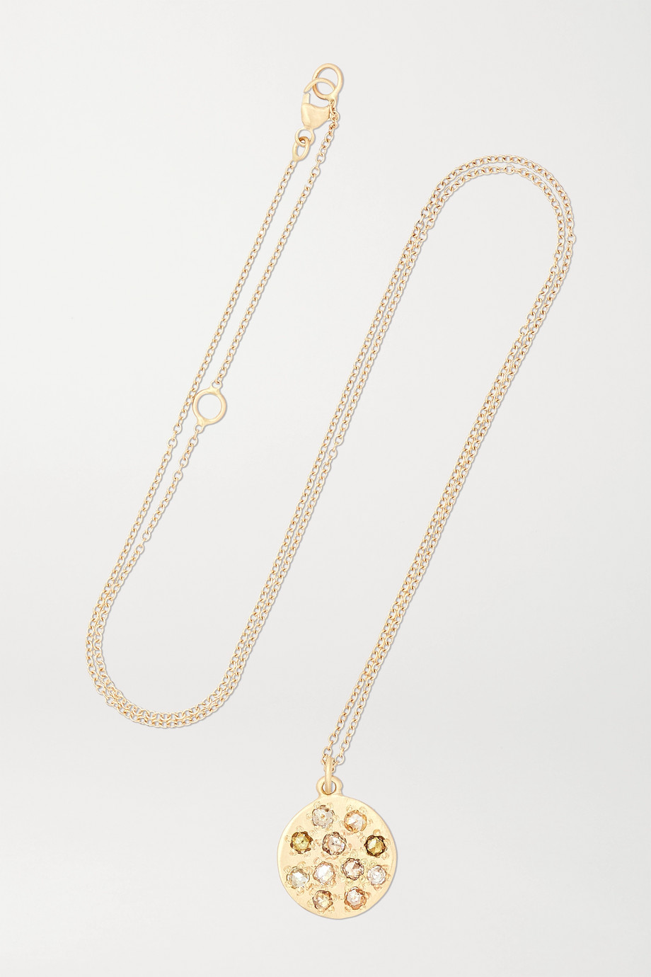 Brooke Gregson Mini Mars 14-karat gold diamond necklace
