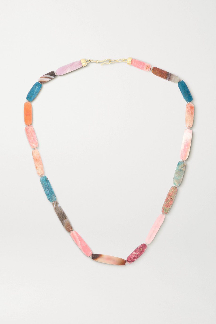 Brooke Gregson 18-karat gold multi-stone necklace