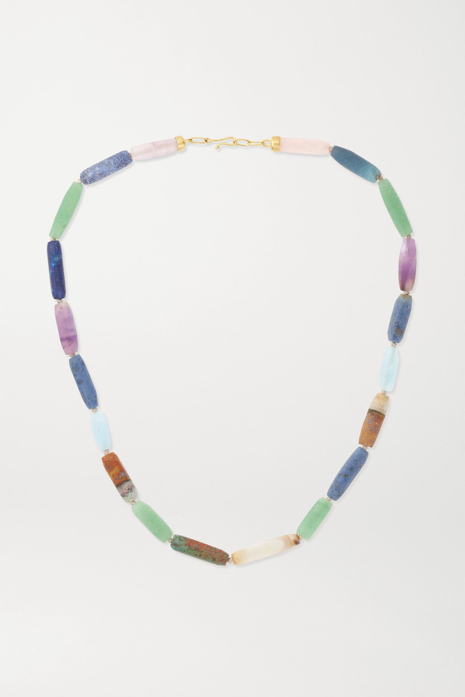Brooke Gregson 14-karat gold multi-stone necklace