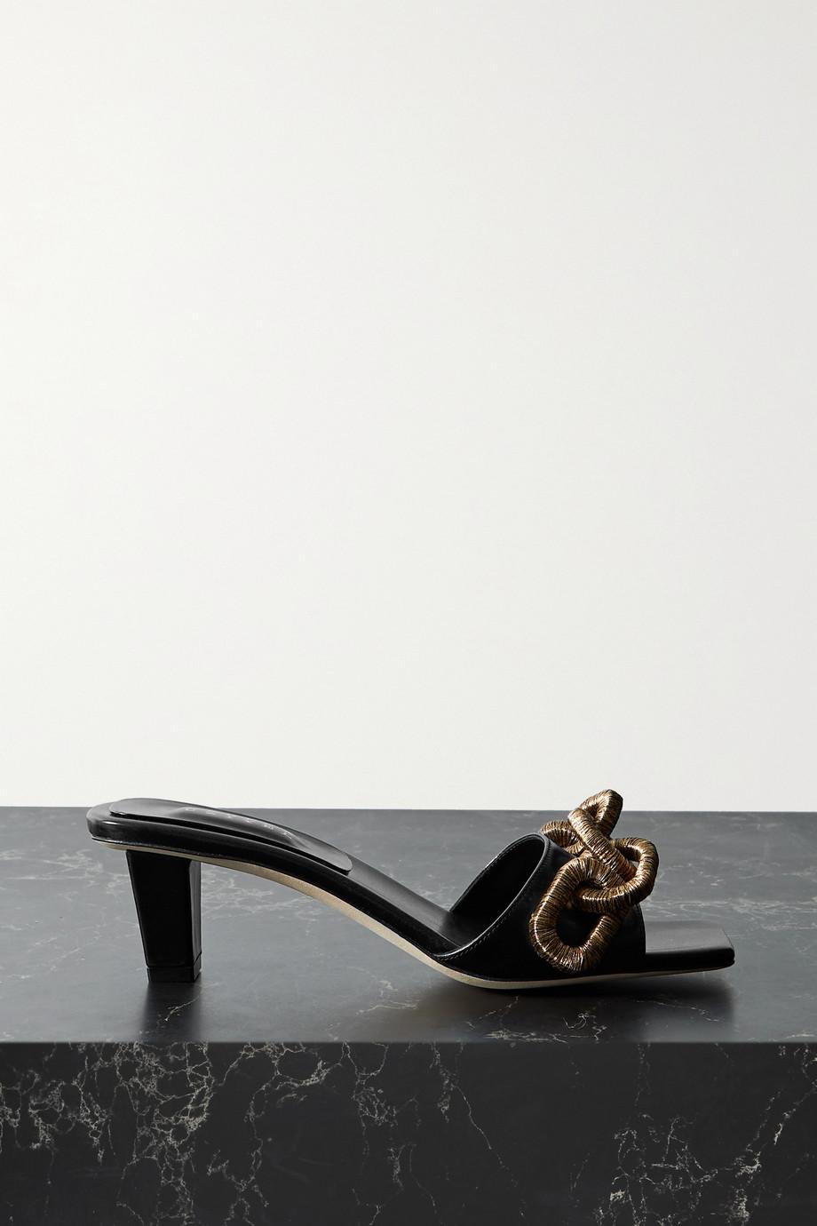 Serena Uziyel Catena embellished leather mules