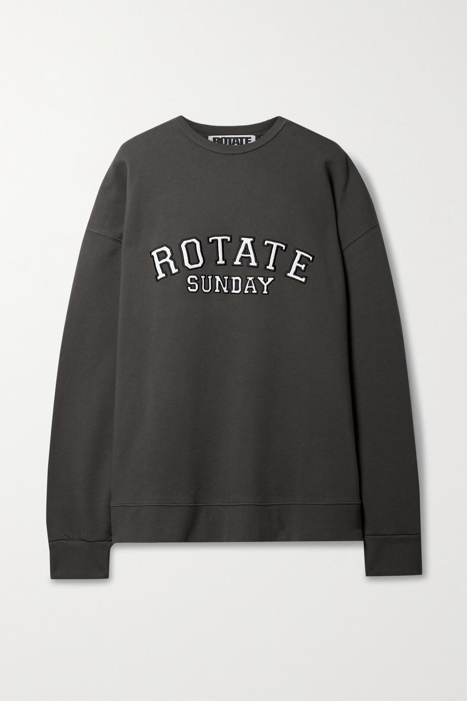 ROTATE Birger Christensen + NET SUSTAIN Iris oversized appliquéd organic cotton-jersey sweatshirt