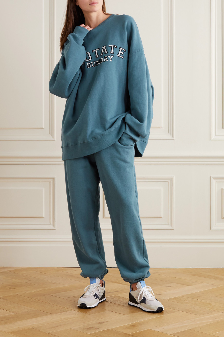 ROTATE Birger Christensen + NET SUSTAIN Sunday Mimi printed organic cotton-jersey track pants