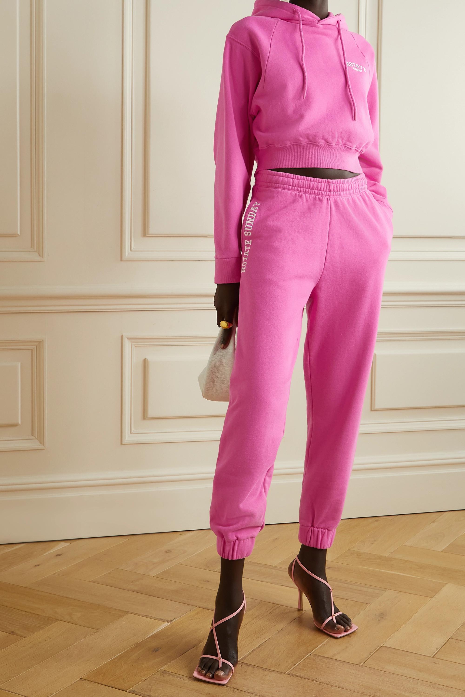 ROTATE Birger Christensen + NET SUSTAIN Mimi embroidered organic cotton-jersey track pants