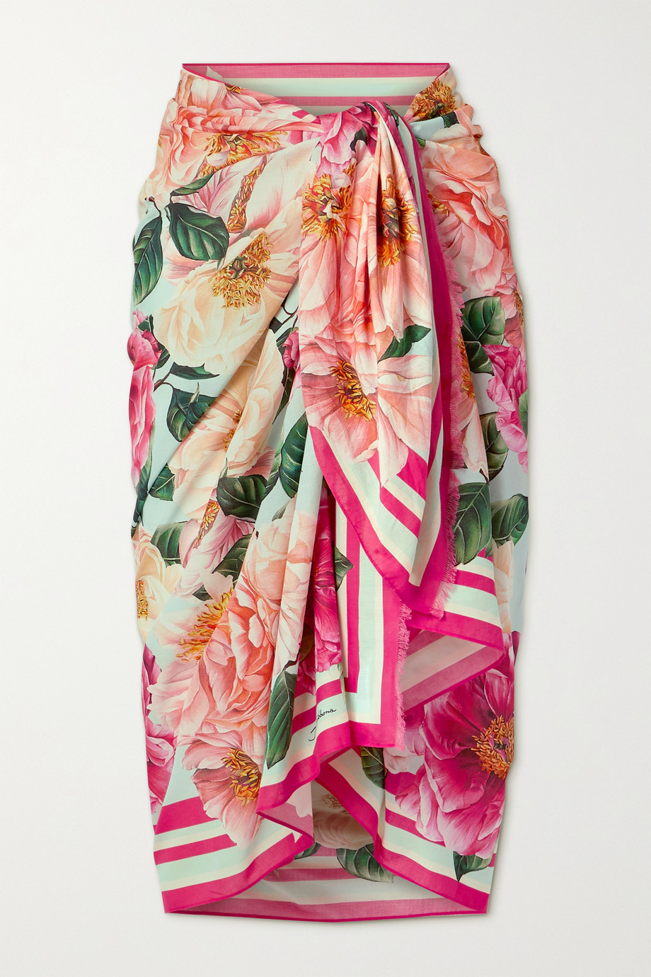 Dolce & Gabbana Floral-print cotton-voile pareo