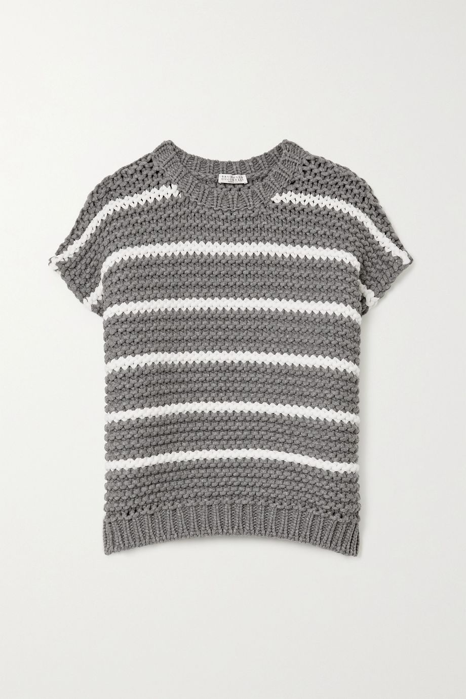Brunello Cucinelli Striped cotton-blend sweater