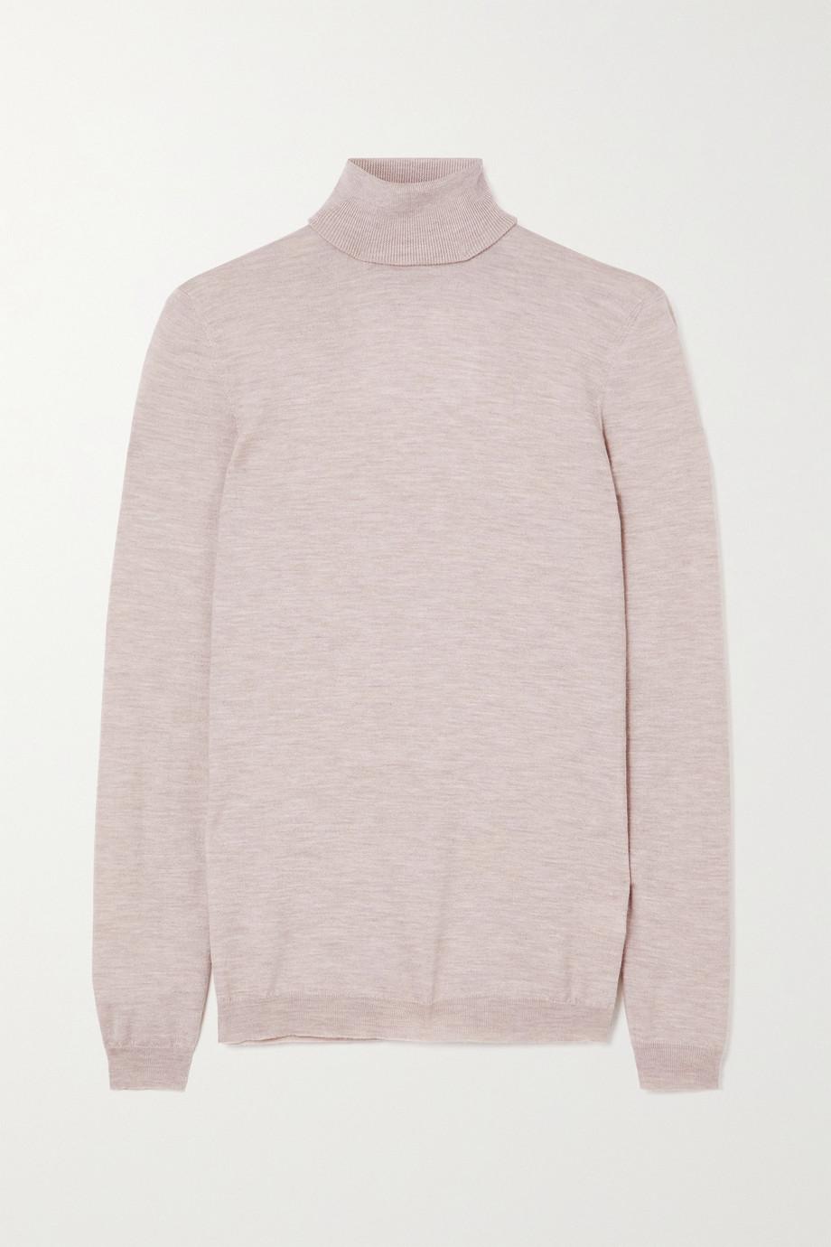 Brunello Cucinelli Cashmere-blend turtleneck sweater