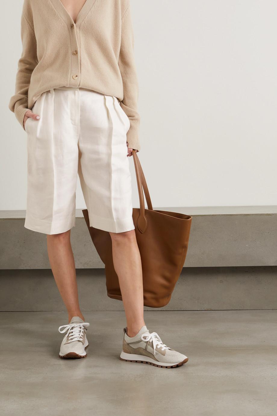 Brunello Cucinelli Pleated linen-twill shorts