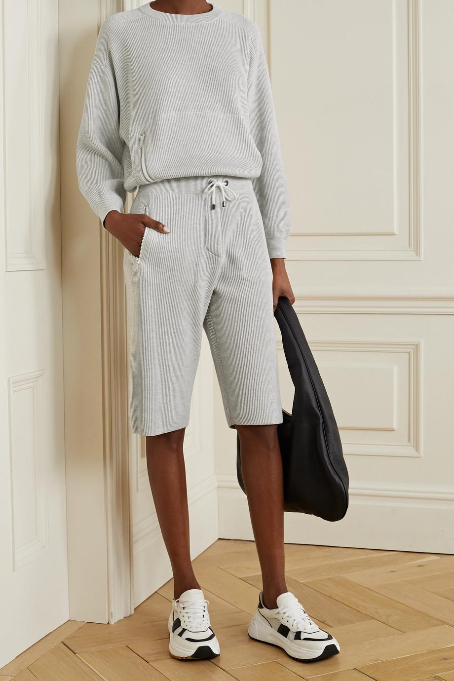 Brunello Cucinelli Ribbed cotton shorts