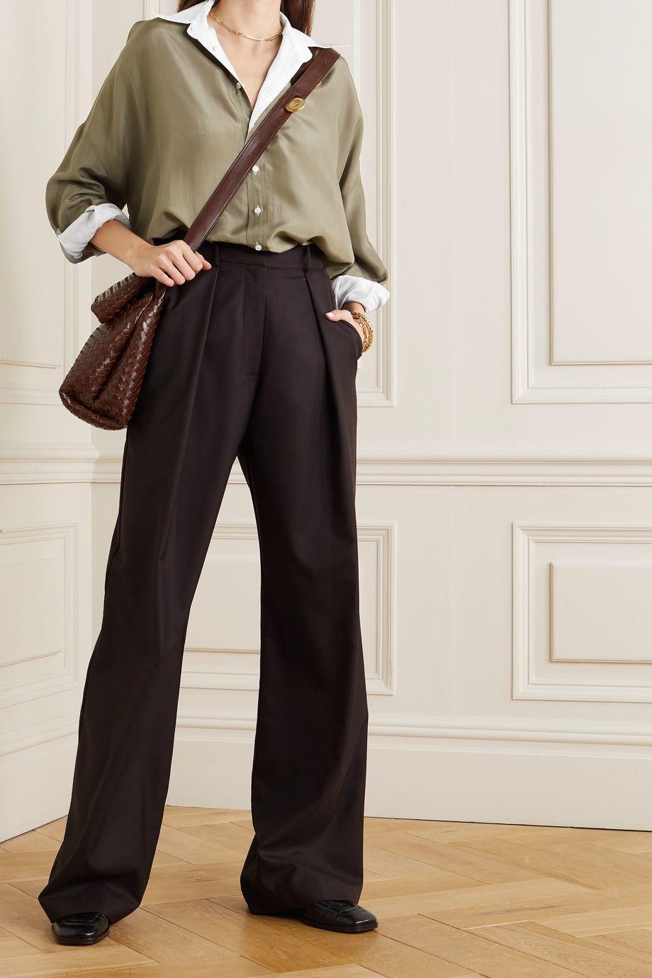 Brunello Cucinelli Reversible silk-voile shirt