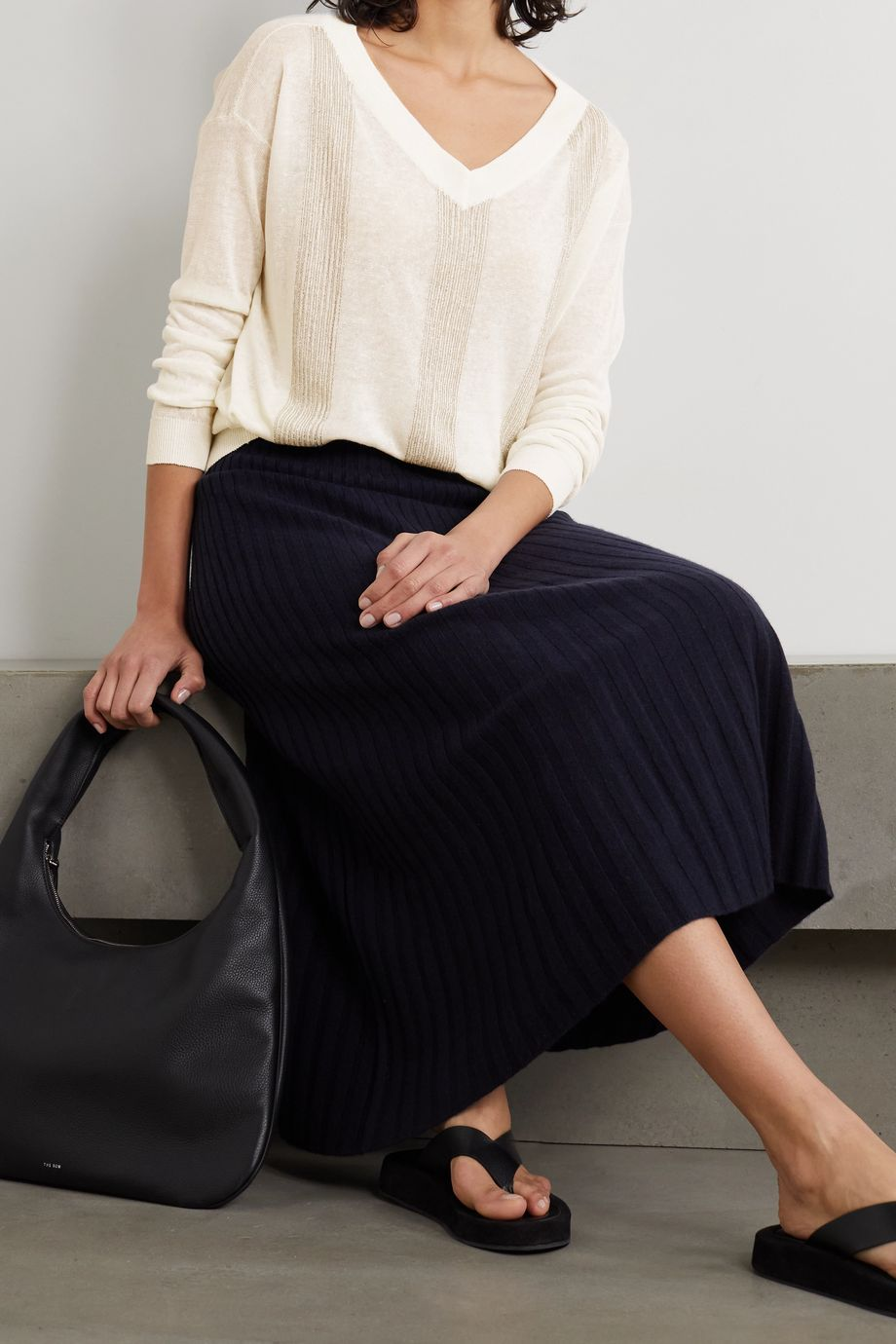 Brunello Cucinelli Embellished linen-blend sweater