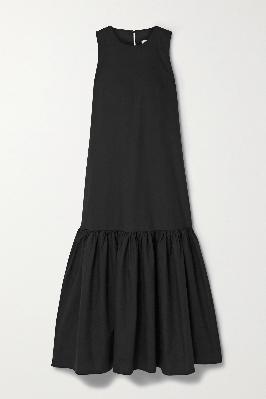 Frankie Shop Loulou tiered cotton-poplin midi dress