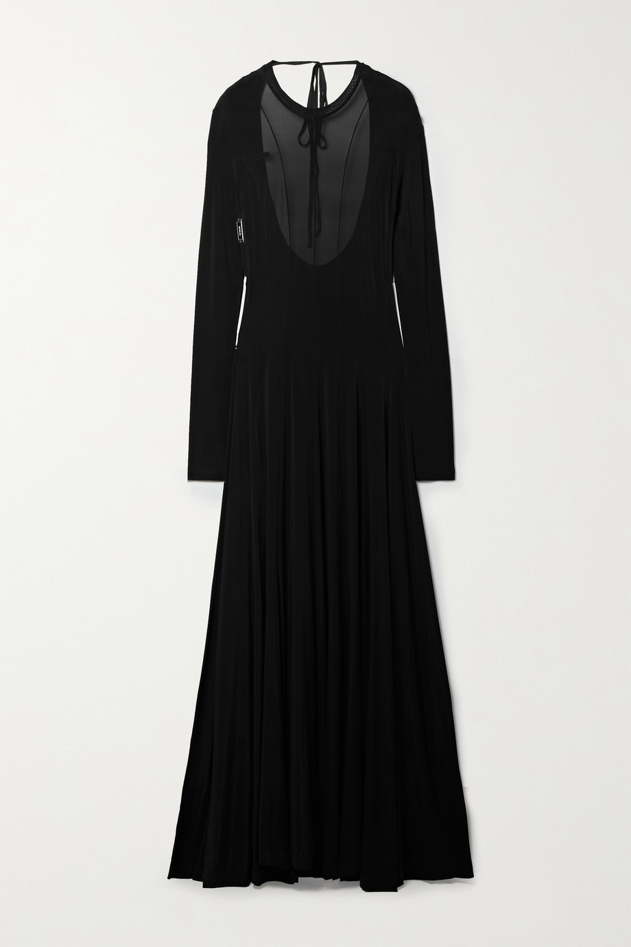 Peter Do Squid open-back paneled stretch-jersey maxi dress
