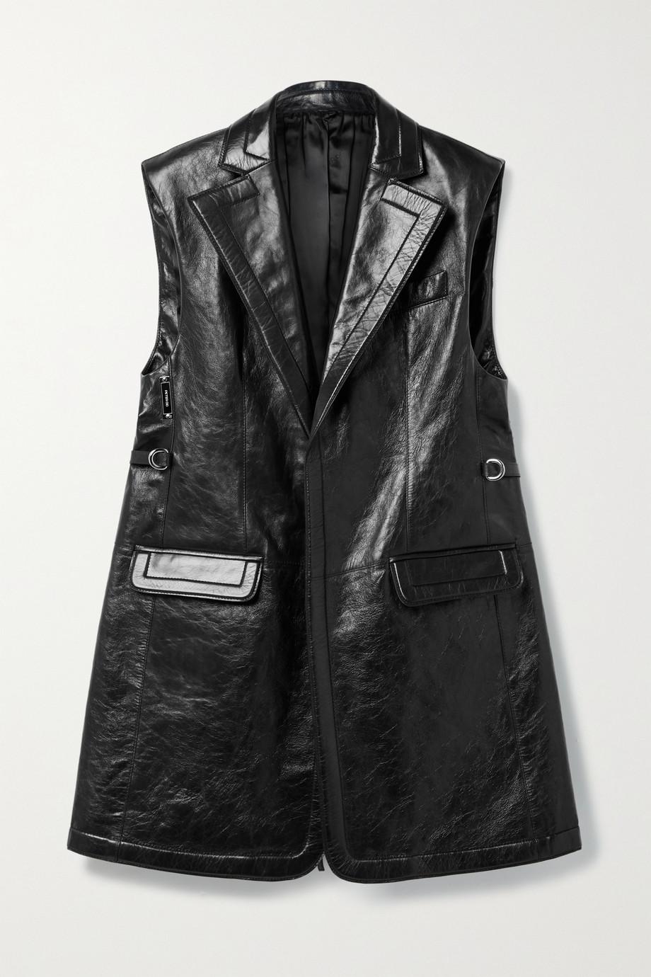 Peter Do Belted crinkled-leather vest