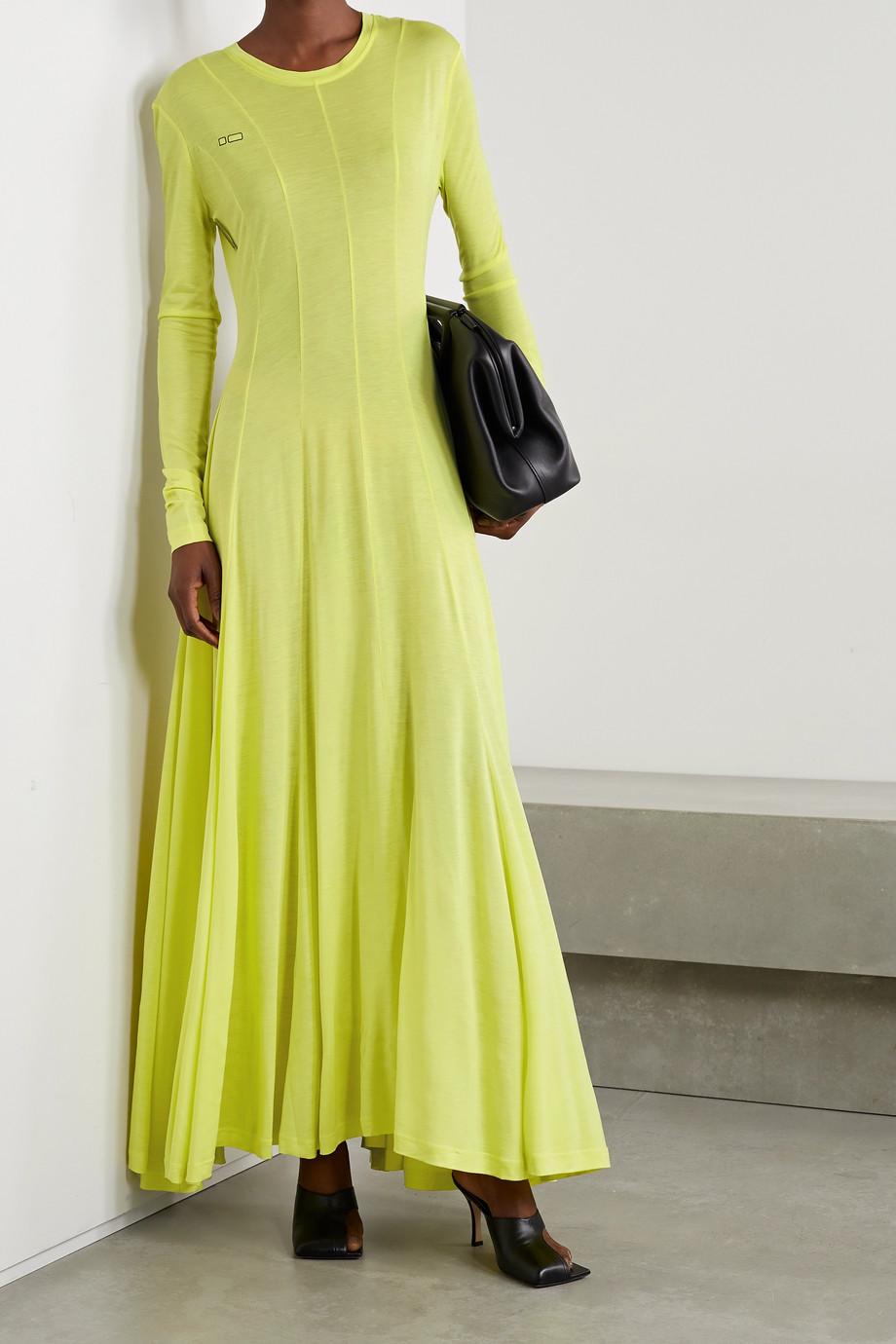 Peter Do Squid paneled TENCEL Lyocell maxi dress