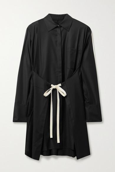 Peter Do WOOL SHIRT DRESS