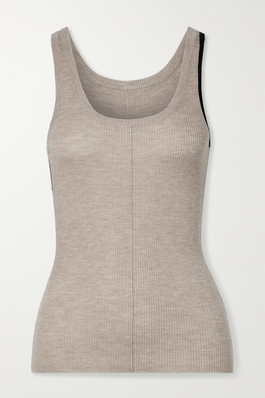 Peter Do Vin two-tone ribbed cashmere-blend tank