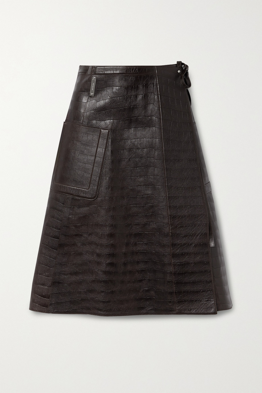 Peter Do Croc-effect leather wrap skirt