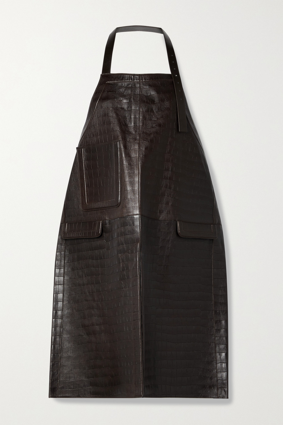Peter Do Croc-effect leather apron