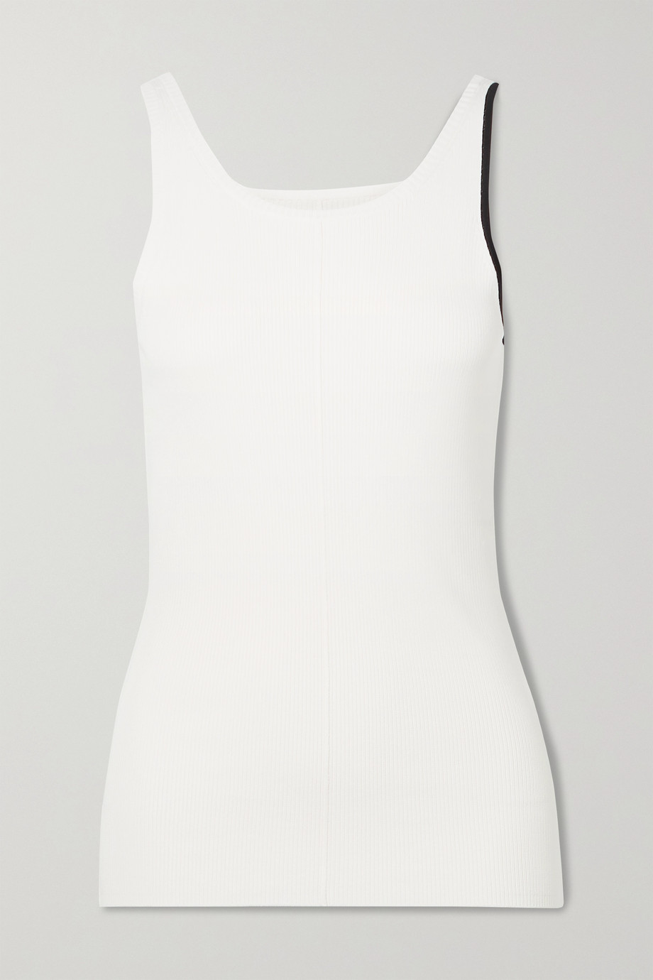 Peter Do Maggie two-tone ribbed-knit tank