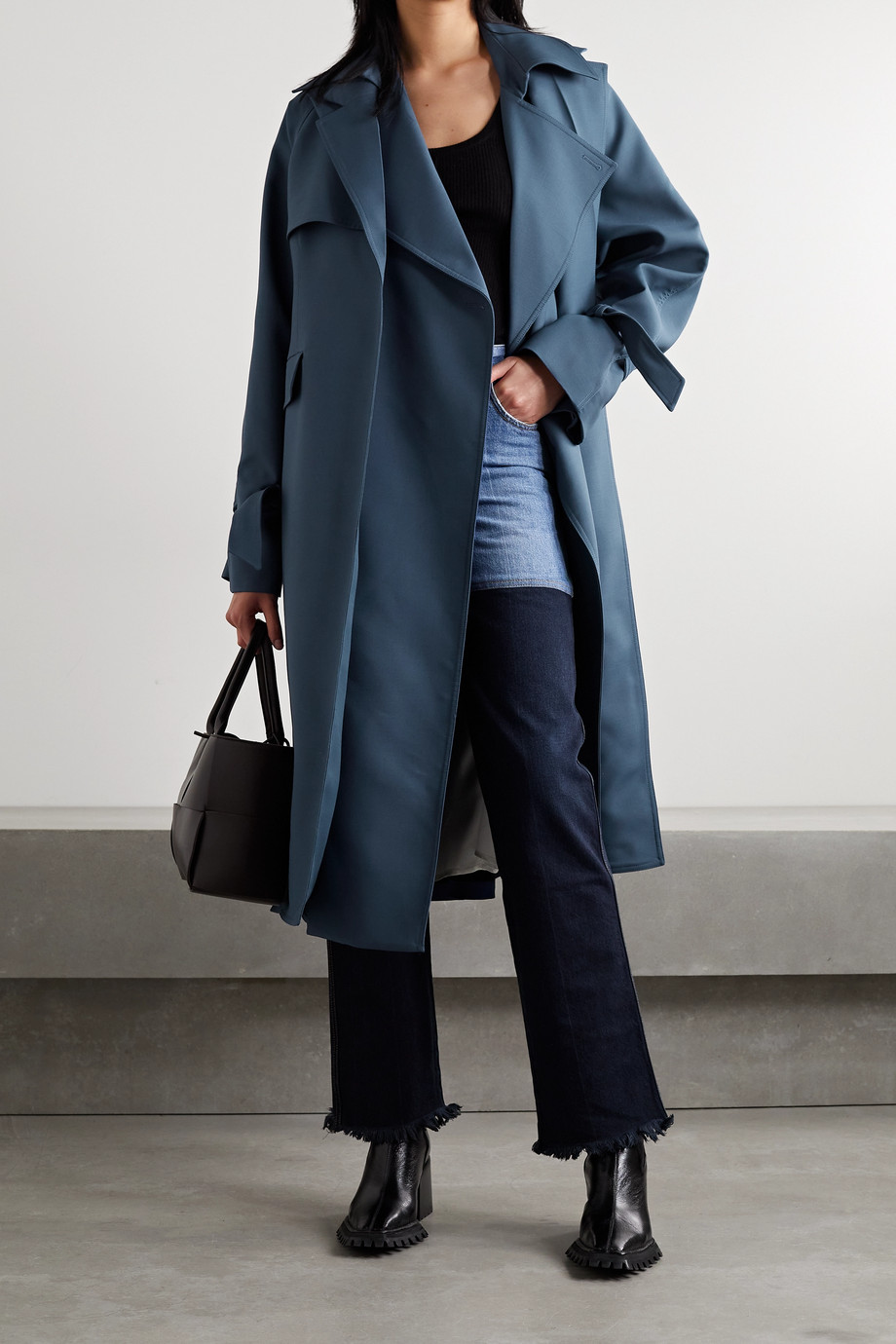 Peter Do Layered wool-blend trench coat