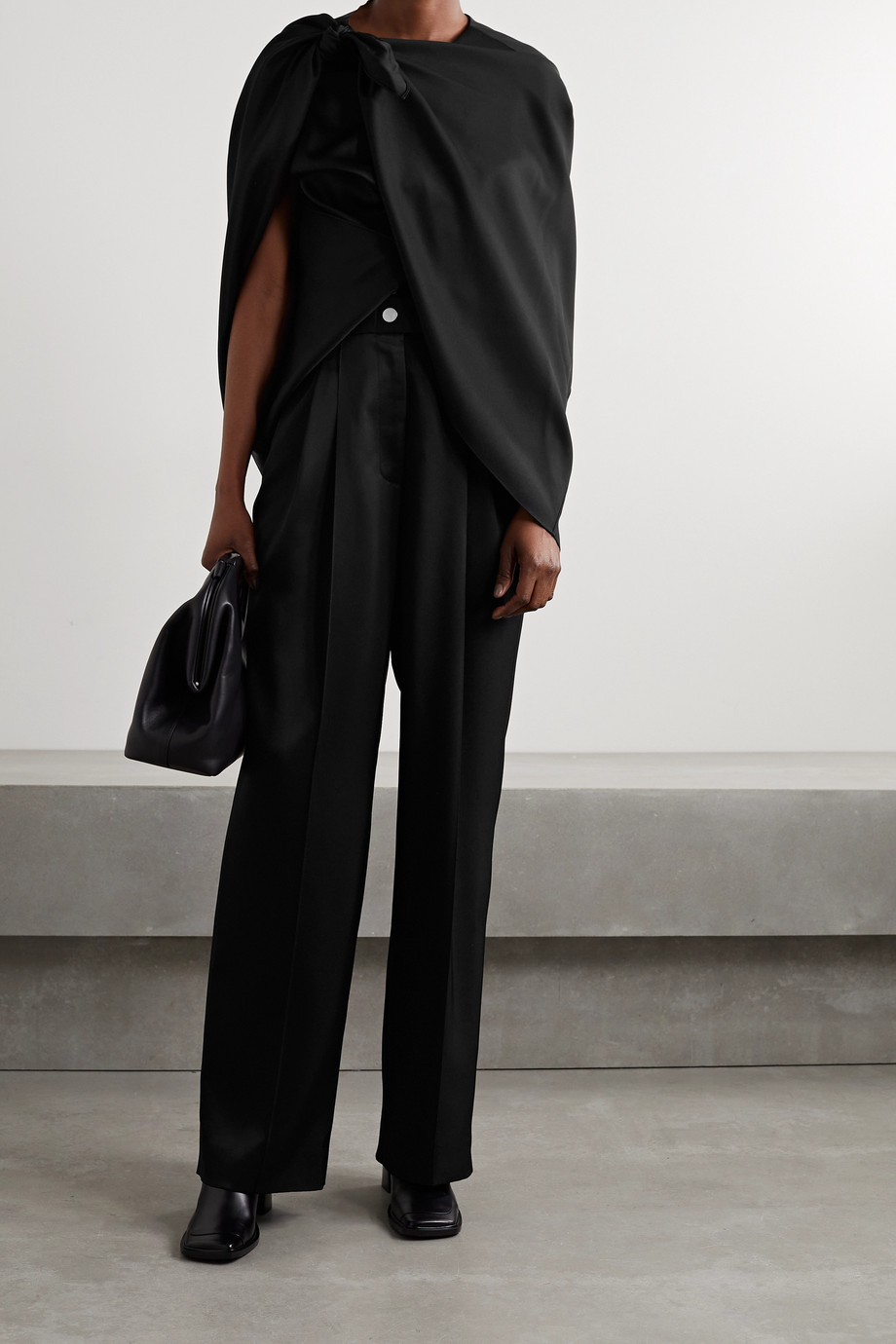 Peter Do Draped twill blouse