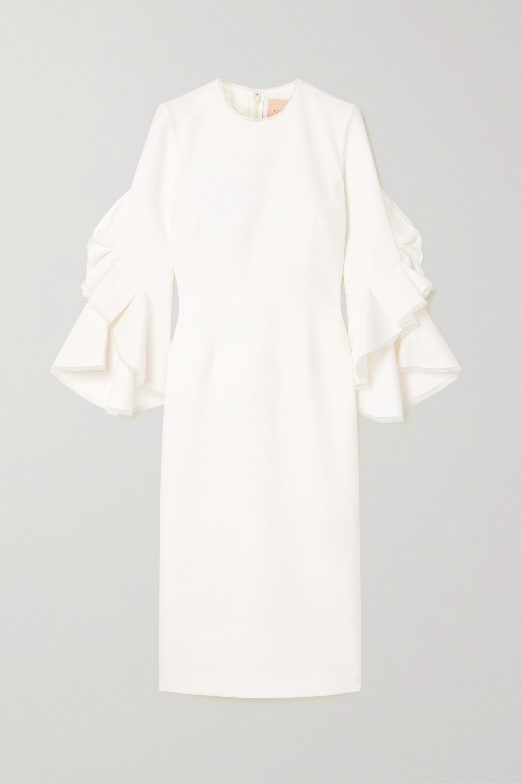 Roksanda Camellia Kleid aus Crêpe mit Tüllbesätzen und Volants
