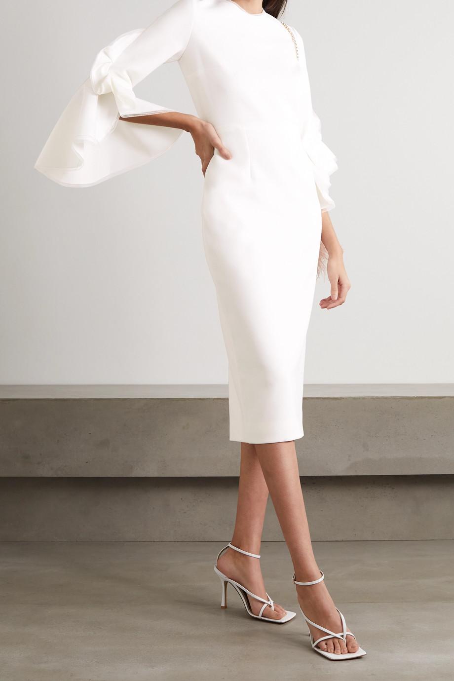 Roksanda Ardemia tulle-trimmed ruffled crepe dress