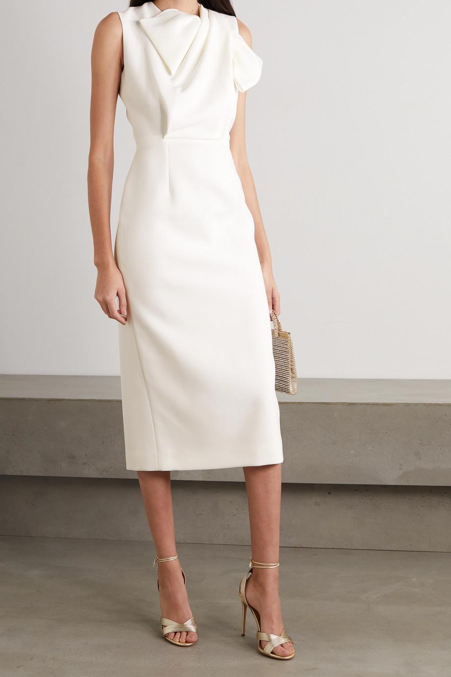 Roksanda Bow-detailed crepe dress