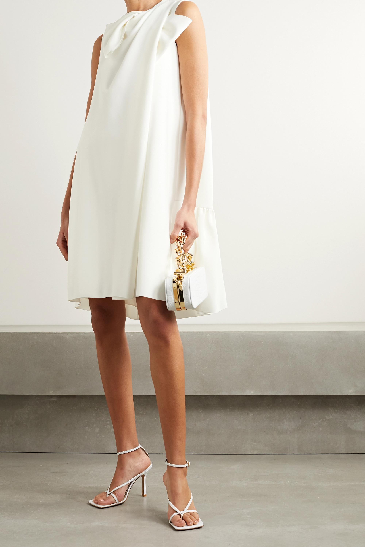 Roksanda Selena bow-embellished crepe mini dress