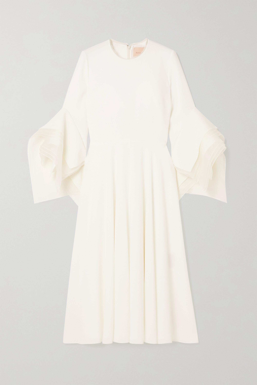 Roksanda - Ayres silk organza-trimmed crepe midi dress