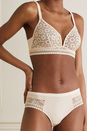 Maison Lejaby Daphne stretch-jersey and corded lace briefs