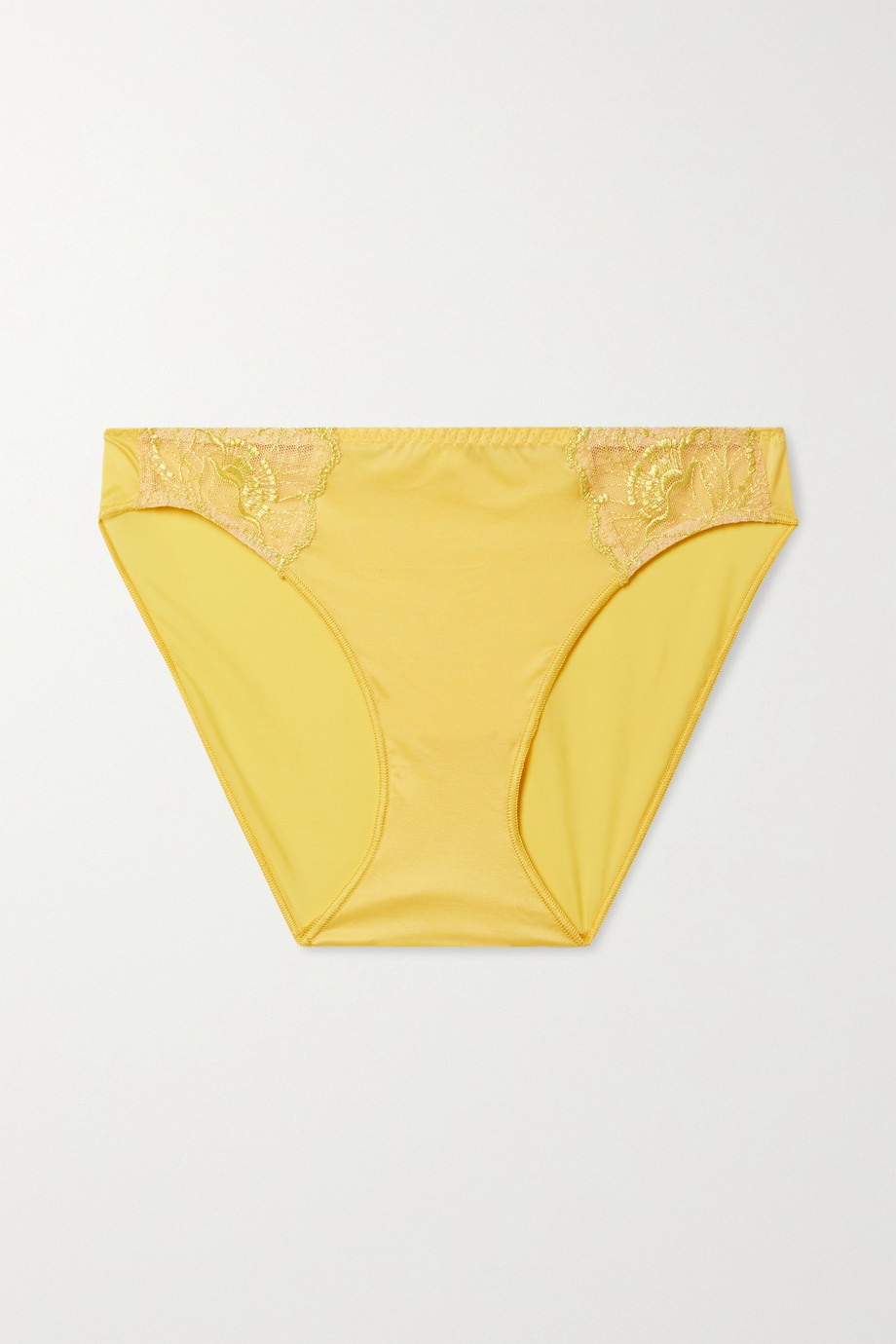 Maison Lejaby Flora embroidered tulle and satin-jersey briefs