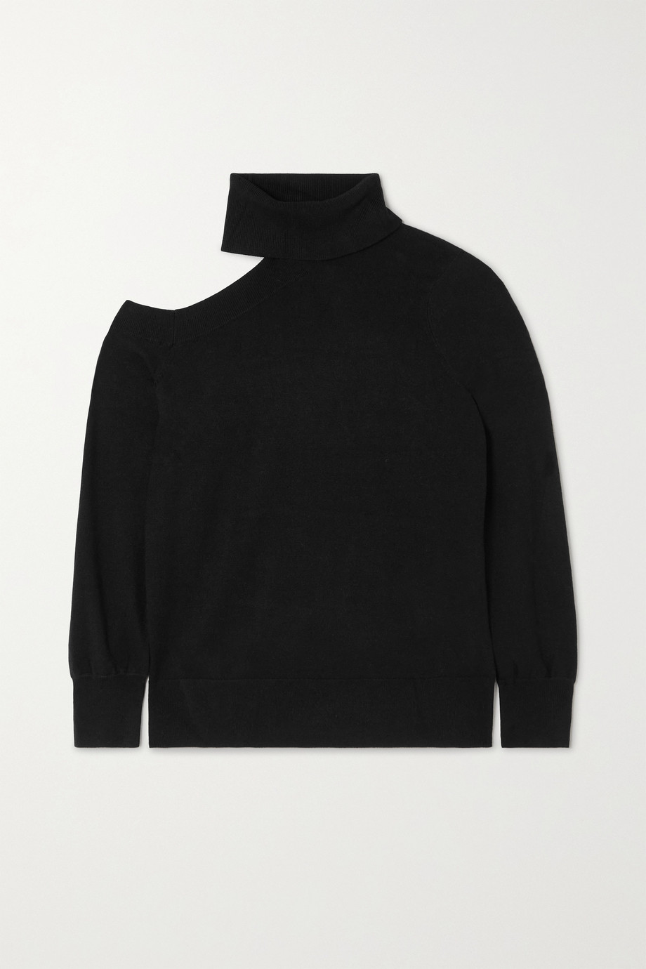 L'Agence Easton cutout knitted turtleneck sweater
