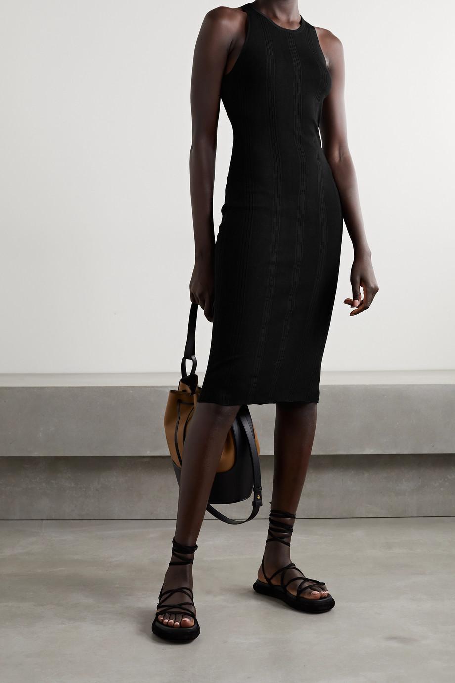 L'Agence Shelby ribbed-knit midi dress