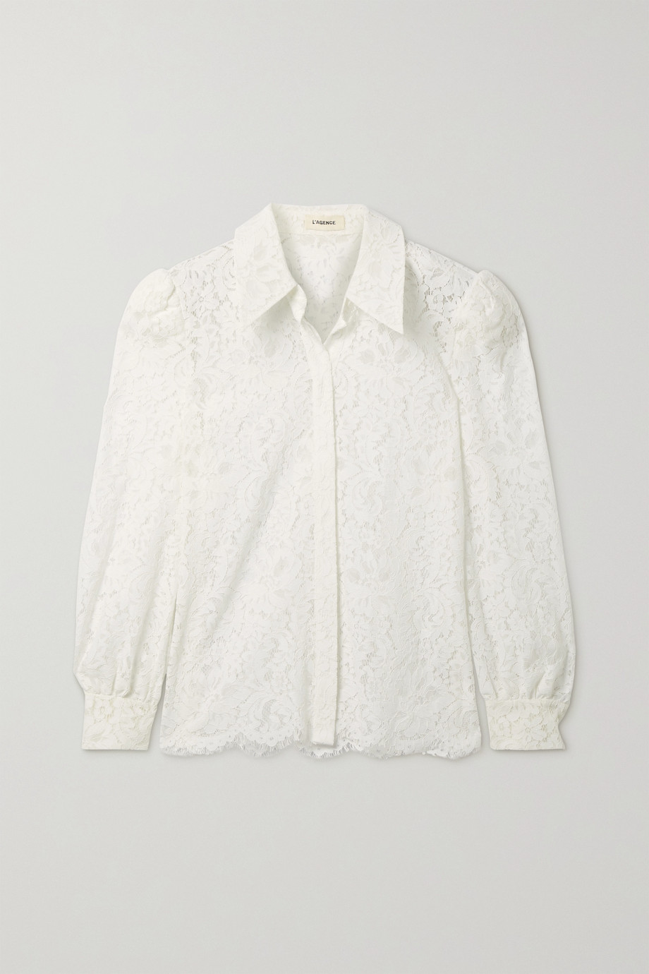 L'Agence Jenica corded lace blouse