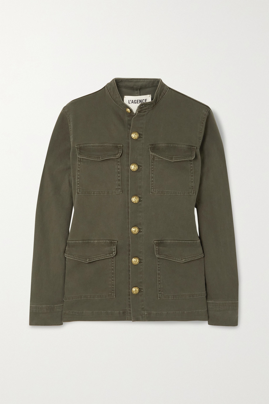 L'Agence Elaina cotton-blend drill jacket