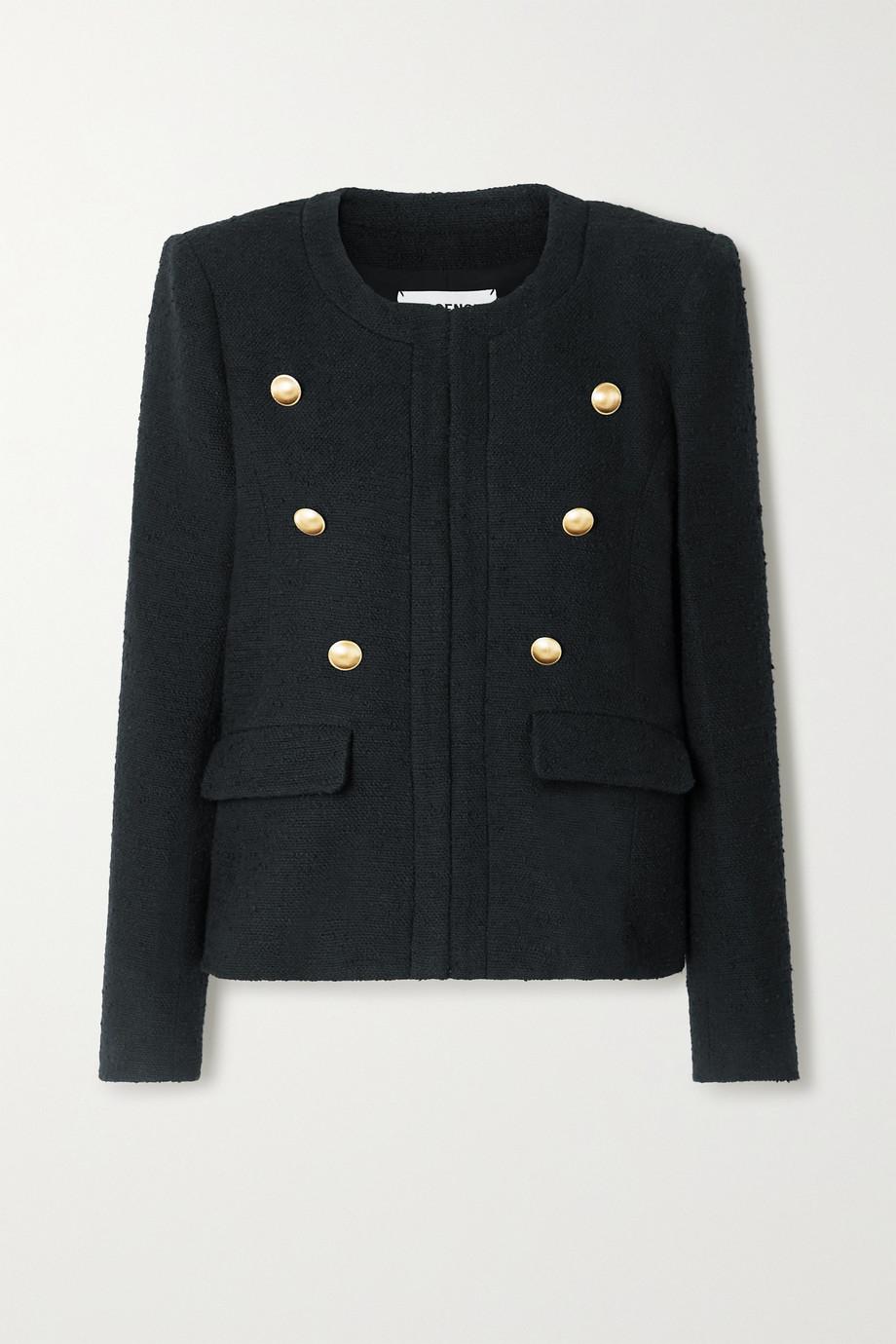 L'Agence Effie button-embellished cotton-blend tweed blazer