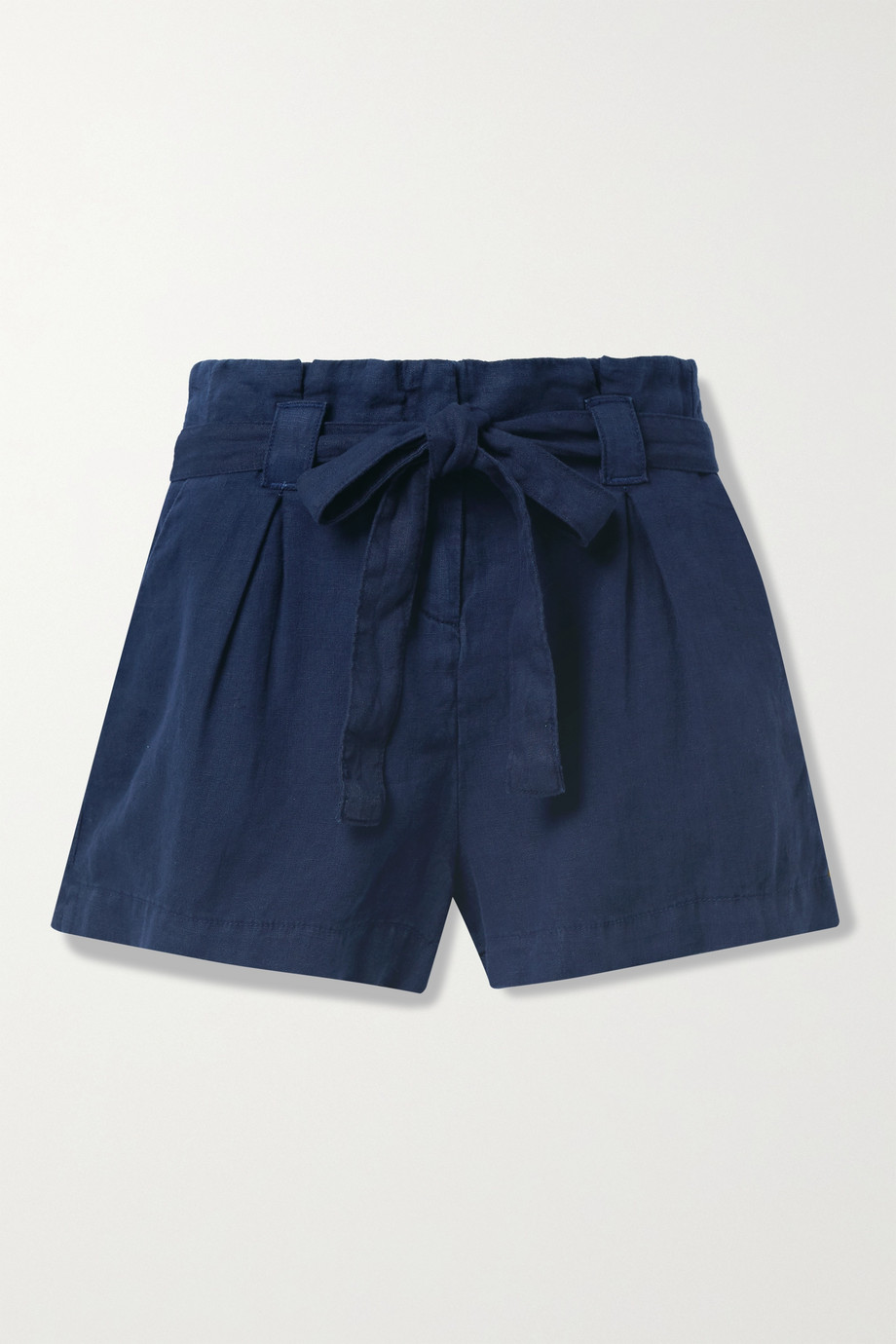 L'Agence Hillary belted linen shorts
