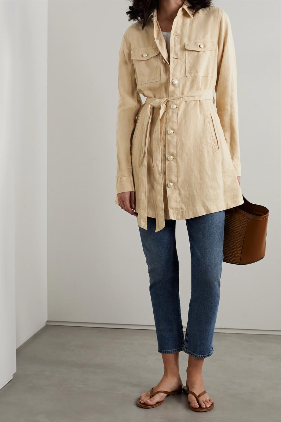 L'Agence Samantha belted linen jacket