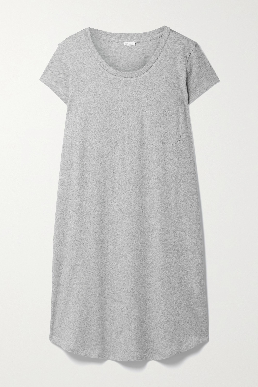 Skin + NET SUSTAIN Carissa Nachthemd aus meliertem Bio-Pima-Baumwoll-Jersey