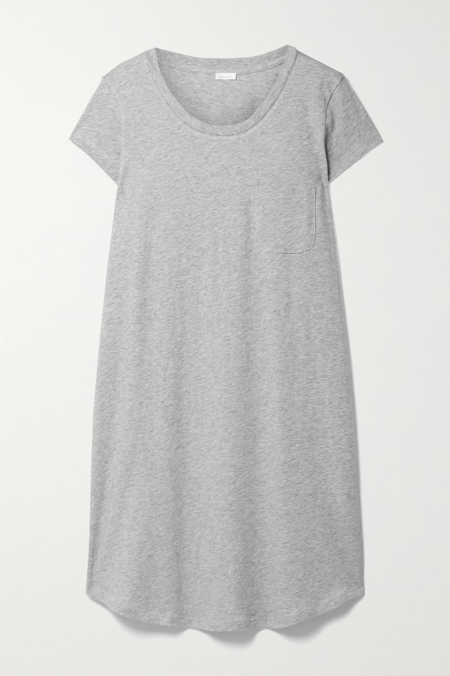 Skin + NET SUSTAIN Carissa mélange organic Pima cotton-jersey nightdress